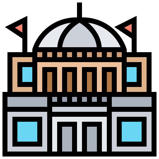 Icon of a government building created by Eucalyp on Flaticon.com.